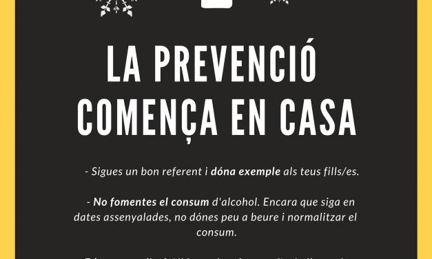 La UPCCA llança una campanya de prevenció de consum d'alcohol en menors