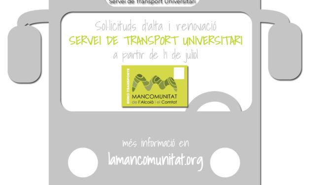 Solicitudes del Servicio de Transporte Universitario STU para el curso 2019/2020