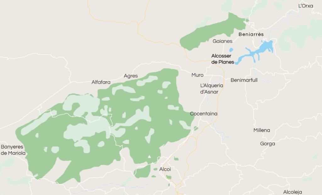 municipis mancomunitat alcoià comtat