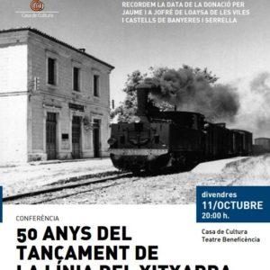 50 anys del tancament de la línia del Xitxarra