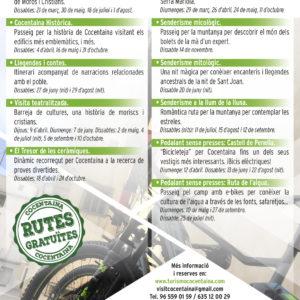 rutes visites guiades gratuïtes cocentaina 2020