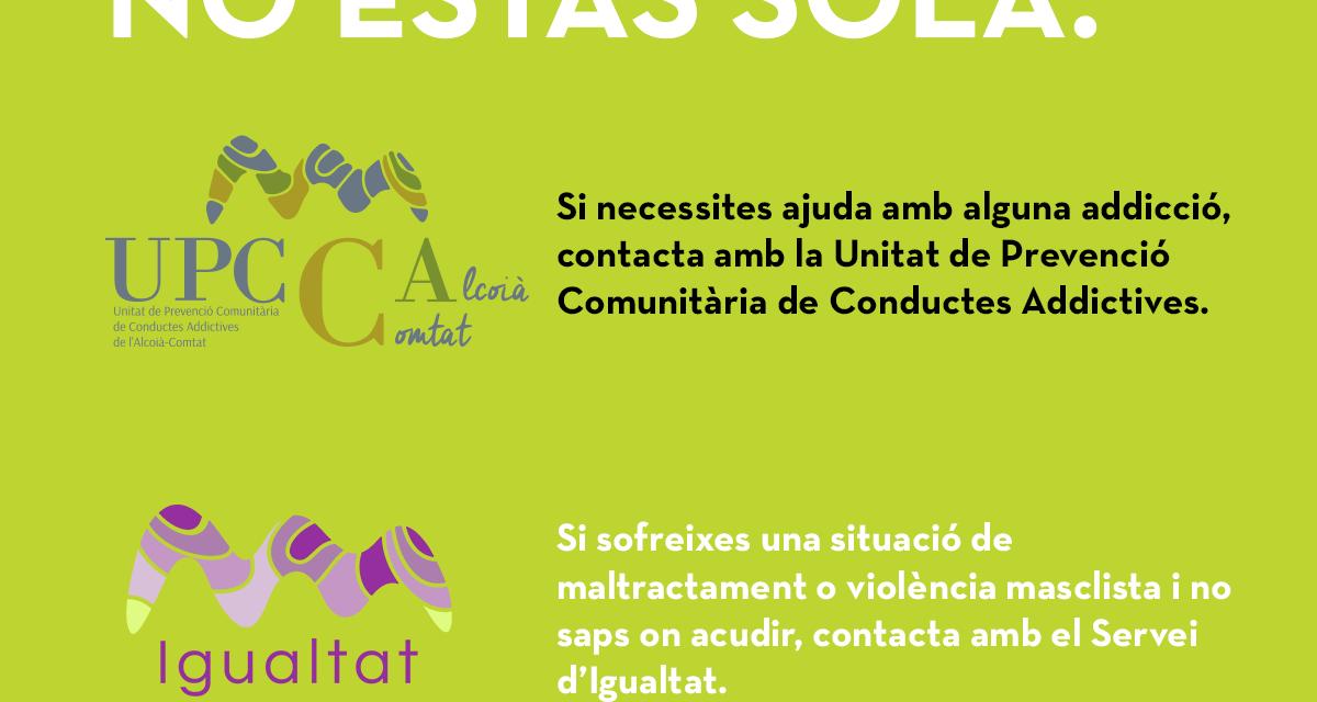 Los servicios de Igualtat y la UPCCA se ponen a disposición de la ciudadanía