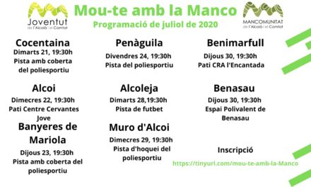 Mou-te amb la Manco, actividades deportivas juveniles para dinamizar las comarcas en verano