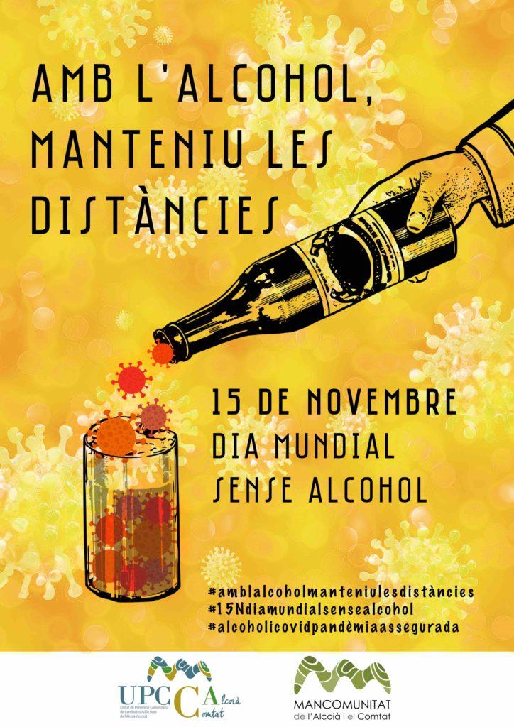 MANCOMUNITAT ALCOIÀ COMTAT UPCCA cartell dia sense alcohol upcca VAL