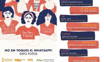 Exposición itinerante No em toques el Whatsapp