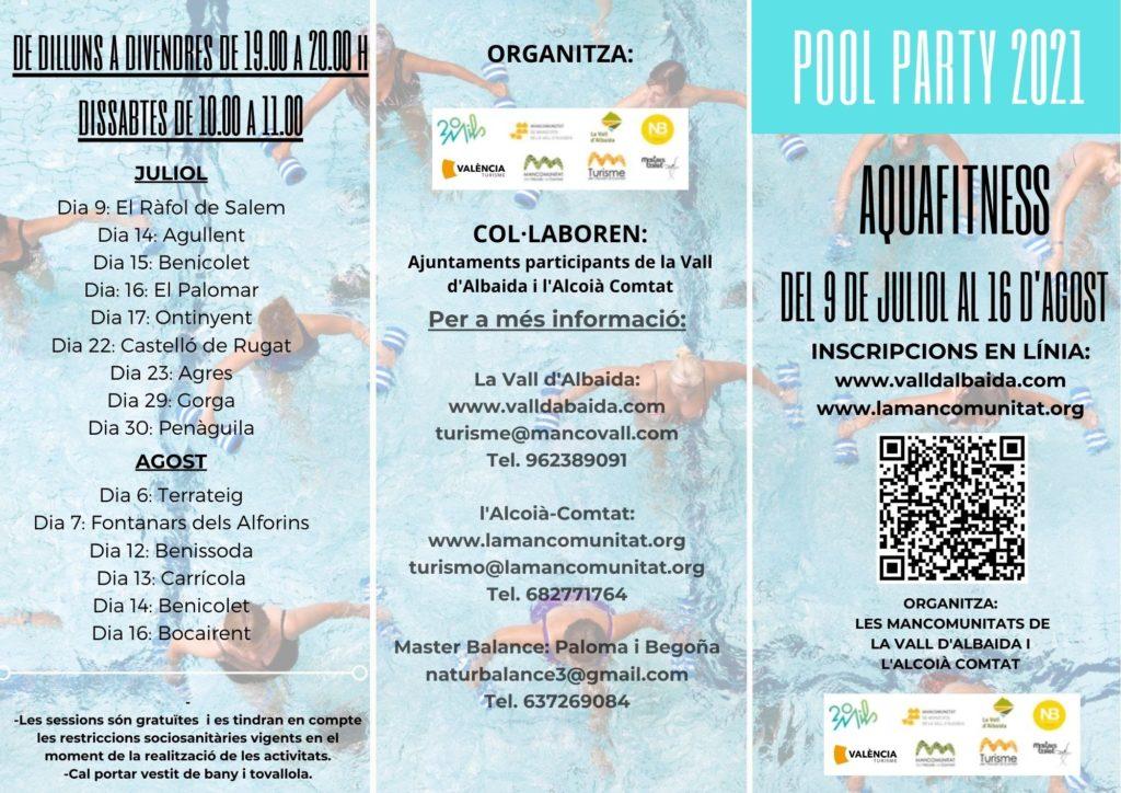 pool party 2021 aquafitness alcoià comtat