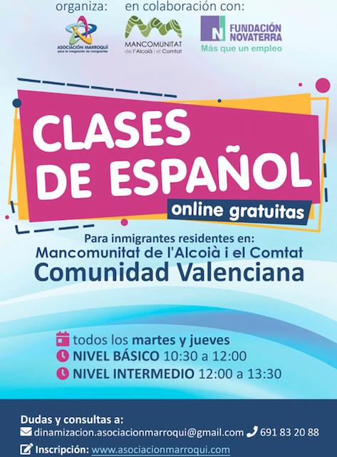 Curso gratuito de español para inmigrantes