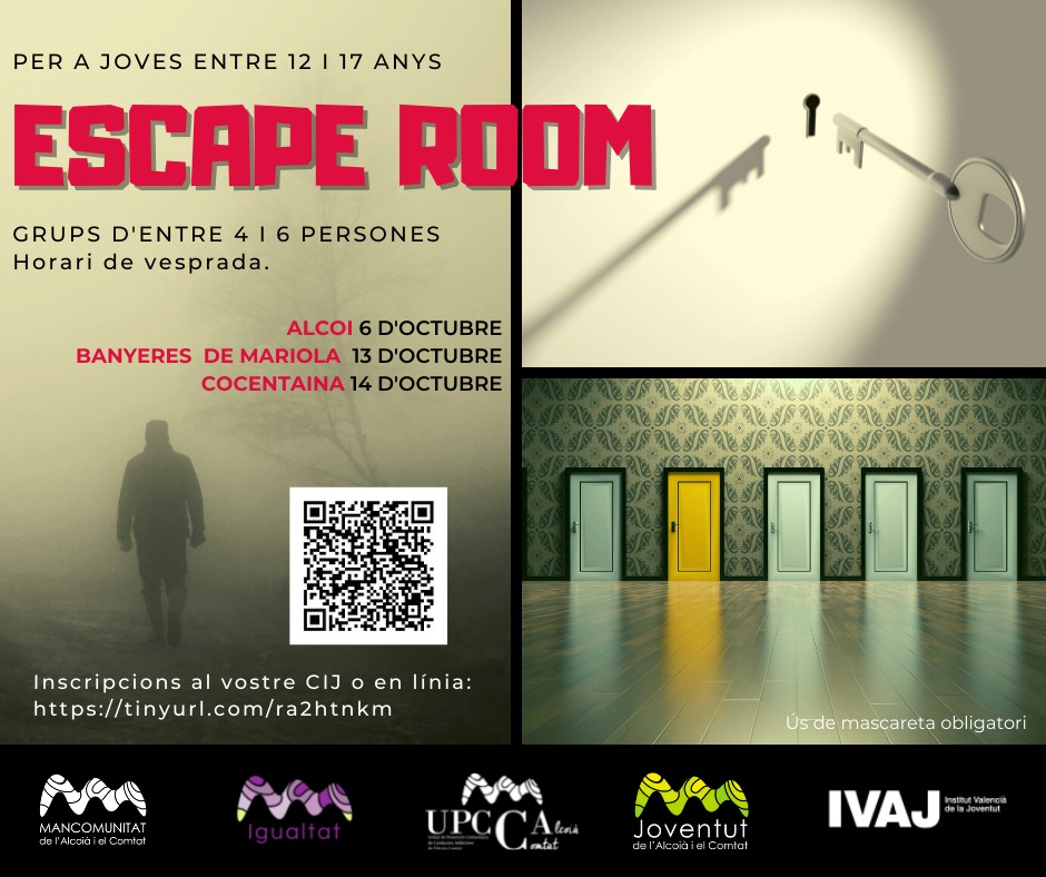 escape room setembre octubre